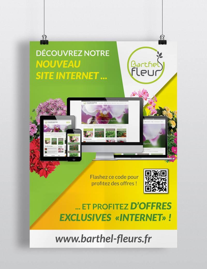 Barthel fleurs site internet supports de communication for Fleurs internet