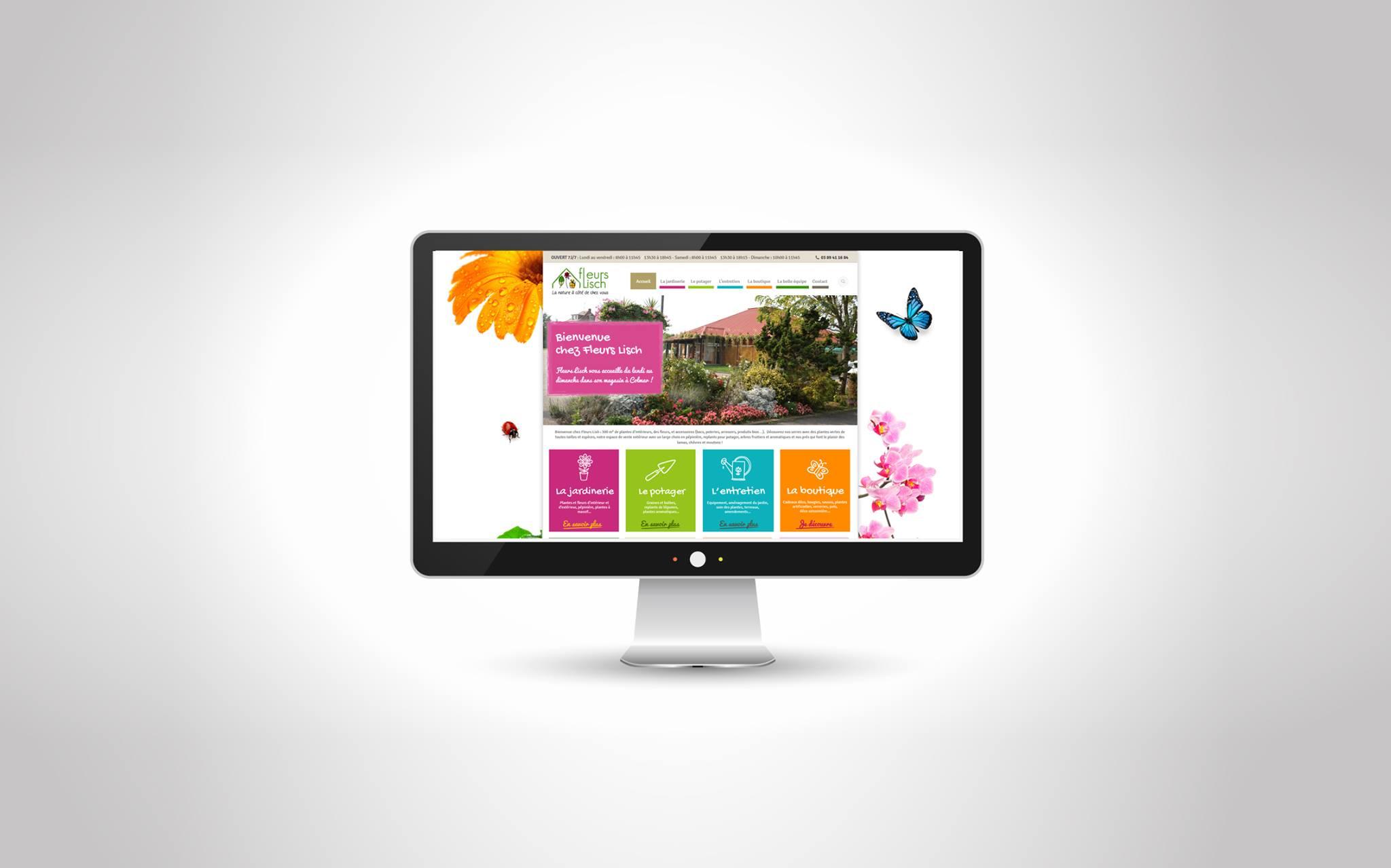 Fleurs lisch identit visuelle site internet for Fleurs internet